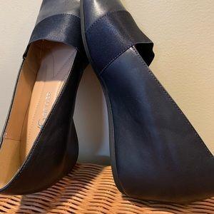 Andrew Geller Secretary Slip On Shoe Navy Blue
